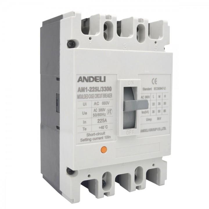 Автоматический выключатель AM1-225L/3P 225A 35KA