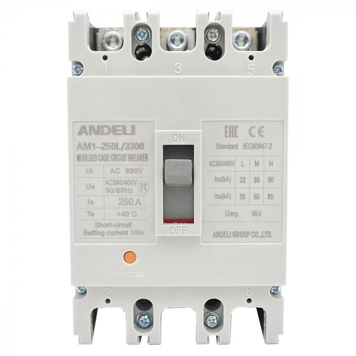 Автоматический выключатель AM1-250L/3P 125A 35KA