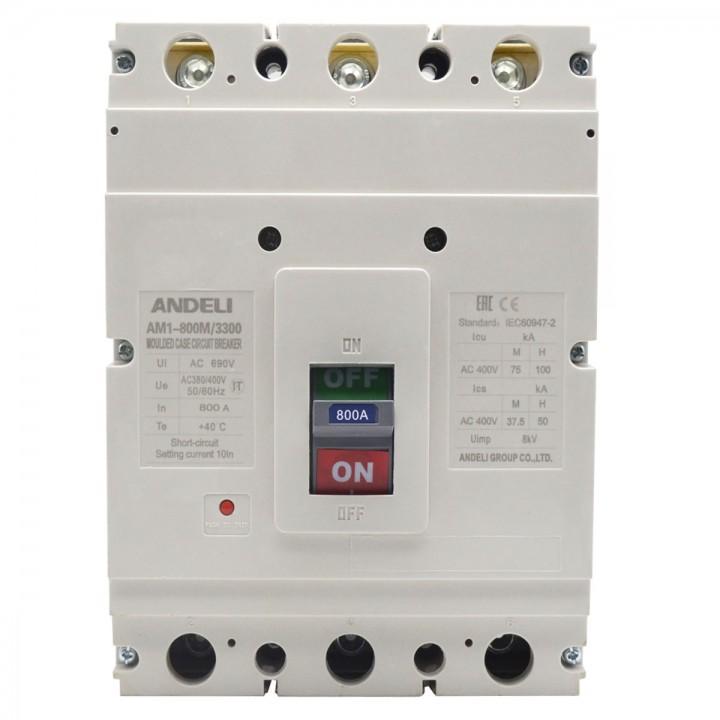 Автоматический выключатель AM1-630L/3P 400A 50KA