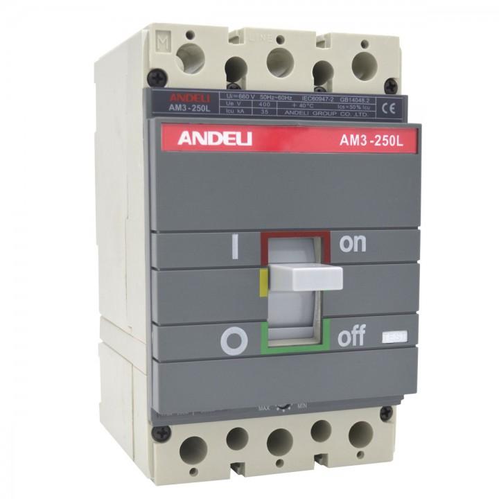 Автоматический выключатель AM3-250S/3P 200A 65KA