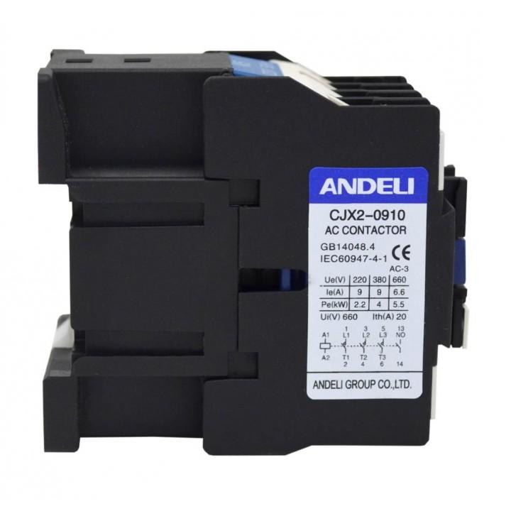 Контактор CJX2-0910 9A 220V/AC3 1НО 50Гц