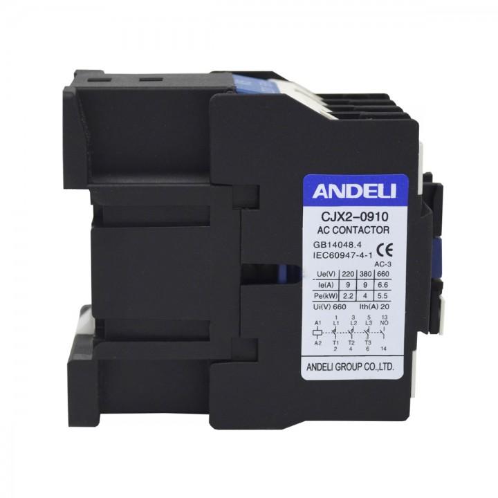 Контактор CJX2-D0901 9A 220V/AC3 1НЗ 50Гц