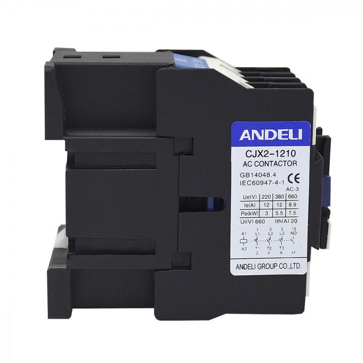 Контактор CJX2-D1201 12A 220V/AC3 1НЗ 50Гц